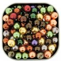Mixed Luster Glass Pearls Round 8mm Fall Mix Pack of 100
