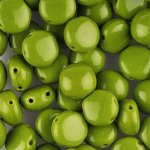 Candy Beads 2-Hole Cabochon 8mm 20pcs - Opaque Olivine