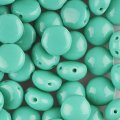 Candy Beads 2-Hole Cabochon 8mm 20pcs - Opaque Green Turquoise