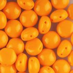 Candy Beads 2-Hole Cabochon 8mm 20pcs - Opaque Orange