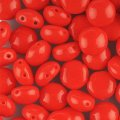 Candy Beads 2-Hole Cabochon 8mm 20pcs - Opaque Red