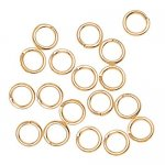 Jump Rings 4mm Goldr Plated 100-piece
