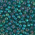 Miyuki Round Seed Beads 6/0 Silver Lined Emerald AB 20GM