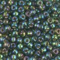 Miyuki Round Seed Beads 6/0 Silver Lined Olive Green AB 20GM