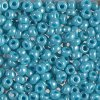 Miyuki Round Seed Beads 6/0 Opaque Turquoise Green Luster 20GM