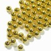 Spacer Beads Smooth Round 5mm Gold Plated. Pack of 200