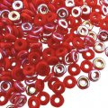 Czech O-Beads 3.8 mm x 1 mm Opaque Red AB 8.1g