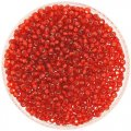 Miyuki Round Seed Beads Size 8/0 Silver Lined Flame Red 24G