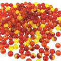 Crackle Glass Round Beads 6mm Fire Mix 200pcs