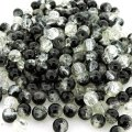 Crackle Glass Round Beads 6mm Black & Clear Mix 200pcs
