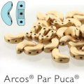 Arcos Par Puca Beads 3-hole 5x10mm 5GM Light Gold Matte