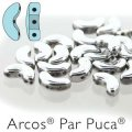 Arcos Par Puca Beads 3-hole 5x10mm 5GM Argentees Silver