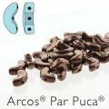 Arcos Par Puca Beads 3-hole 5x10mm 5GM Dark Bronze
