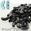 Arcos Par Puca Beads 3-hole 5x10mm 5GM jet Black