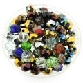 Crystal Glass Rondelle Beads 6x8mm Mixed Colors 100pcs