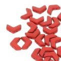 Czech Chevron Duo Beads 10x4mm Chalk Lava Red 30BD/ST