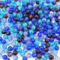 Crackle Glass Round Beads 6mm Shades of Blue Mix 200pcs