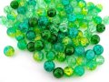 Crackle Glass Round Beads 8mm Evergreen Mix 100pcs