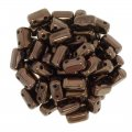 Brick Beads 2-Hole 3 x 6mm 50pcs- Dark Bronze