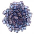 Brick Beads 2-Hole 3 x 6mm 50pcs - Luster Transparent Amy