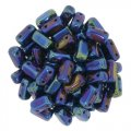 Brick Beads 2-Hole 3 x 6mm 50pcs - Blue Iris