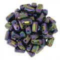Brick Beads 2-Hole 3 x 6mm 50pcs - Purple Iris