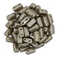 Brick Beads 2-Hole 3 x 6mm 50pcs - Pearl Coat Grey Brown (cocoa)