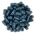 Brick Beads 2-Hole 3 x 6mm 50pcs - Pearl Coat Dark Turquoise