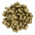 Brick Beads 2-Hole 3 x 6mm 50pcs - Bronze