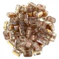 Brick Beads 2-Hole 3 x 6mm 50pcs - Apollo Gold