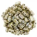 Brick Beads 2-Hole 3 x 6mm 50pcs - Ultra Luster Opaque Green