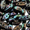 Cali Beads 3-Hole 3x8mm 50pcs - Jet Punch