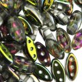 Cali Beads 3-Hole 3x8mm 50pcs - Vitrail Duplex
