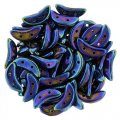 Czechmate 2-Hole Crescent Beads 10x4mm 10g - Blue Iris