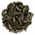 Czechmate 2-Hole Crescent Beads 10x4mm 10g - Dark Bronze