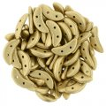 Czechmate 2-Hole Crescent Beads 10x4mm 10g - Matte Metallic Flax
