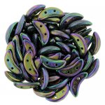 Czechmate 2-Hole Crescent Beads 10x4mm 10g - Purple Iris