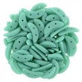 Czechmate 2-Hole Crescent Beads 10x4mm 10g - Turquoise