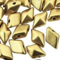 Czech DiamonDuo 2-Hole 8x5mm 10g - Matte Gold