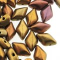 GemDUO 2-Hole beads 8x5mm 10GM - Gold Rainbow