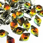 GemDUO 2-Hole beads 8x5mm 10GM - Backlit Tequila