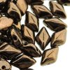 GemDUO 2-Hole beads 8x5mm 10GM - Jet Bronze
