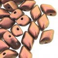GemDUO 2-Hole beads 8x5mm 10GM - Polychrome Copper Ombre