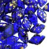 GemDUO 2-Hole beads 8x5mm 10GM - Gold Splash Cobalt Blue