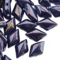 GemDUO 2-Hole beads 8x5mm 10GM - Royal Blue Nebula