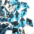 GemDUO 2-Hole beads 8x5mm 10GM - Backlit Aqua Marine