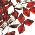 GemDUO 2-Hole beads 8x5mm 10GM - Backlit Ruby Red