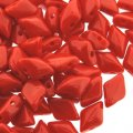 GemDUO 2-Hole beads 8x5mm 10GM - Coral Red Opaque