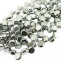 Czech Glass Honeycomb Beads 2-Hole 6mm 30 Pcs Aluminum Silver