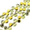 Czech Glass Honeycomb Beads 2-Hole 6mm 30 Pcs Crystal Amber